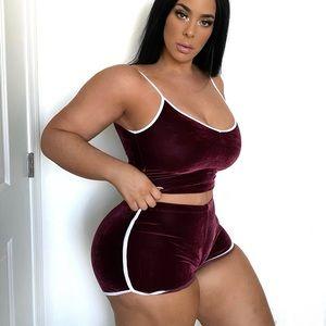 Matching shorts set